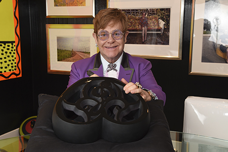 Lalique one-of-a-kind crystal piece raised $ 80,000 USD at Elton John Academy Awards Viewing Party on March 4th
