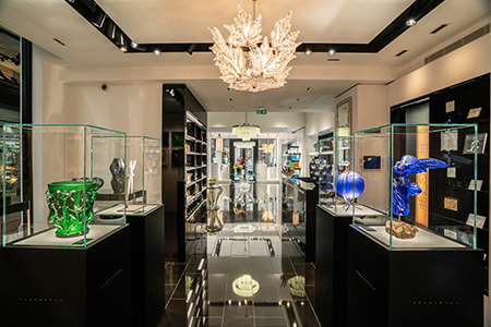 Lalique is opening a new boutique in Bordeaux, bringing together  the worlds of crystal and wine