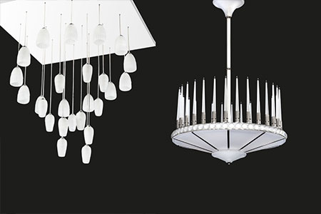 Lalique invites you to discover the new chandelier of the Signature collection at the Salone Del Mobile in Milan