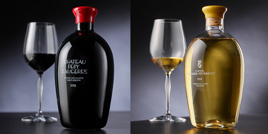 Lalique creates limited-edition carafes in collaboration with Château Lafaurie-Peyraguey and Château Péby Faugères