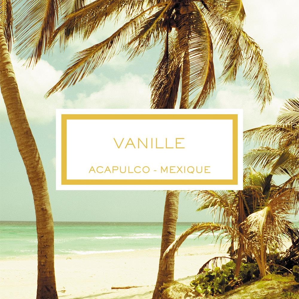 Vanilla, Acapulco - Mexico, Scented Candle