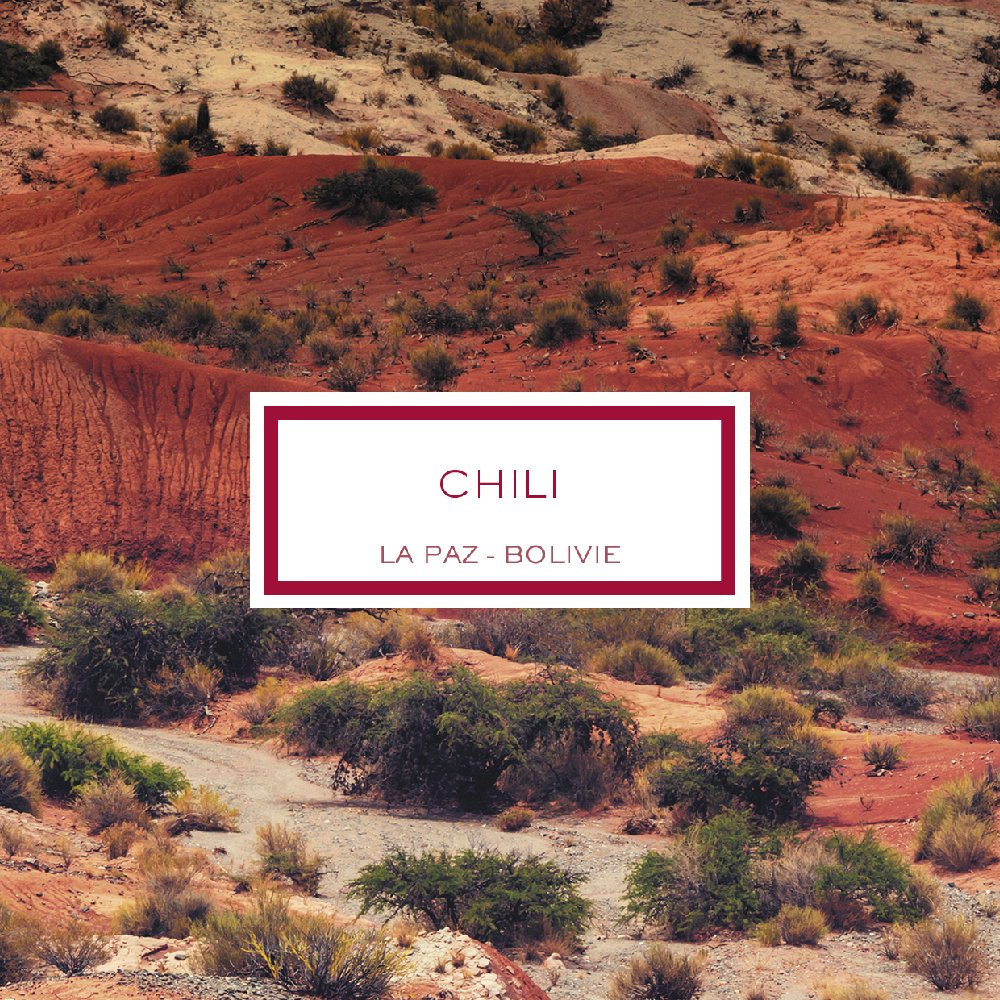 Chili, La Paz - Bolivie, Bougie Parfumée