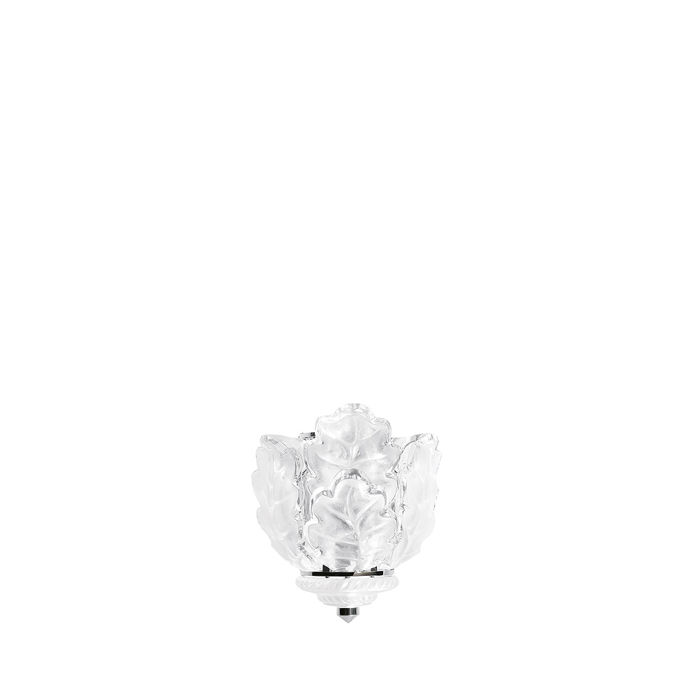 Chêne wall sconce | Clear crystal, chrome finish | Interior Design Lalique