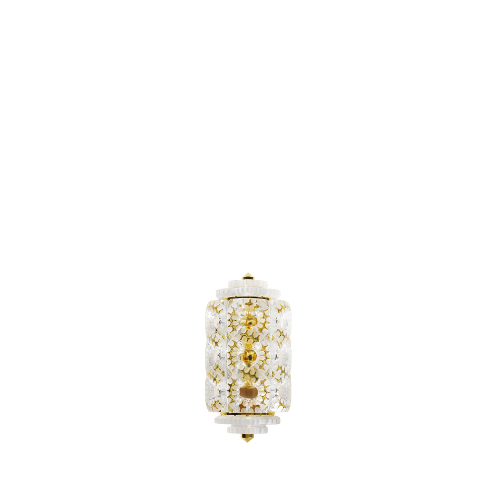 Séville wall sconce | Clear crystal, gilded finish (1 tier) | Interior Design Lalique