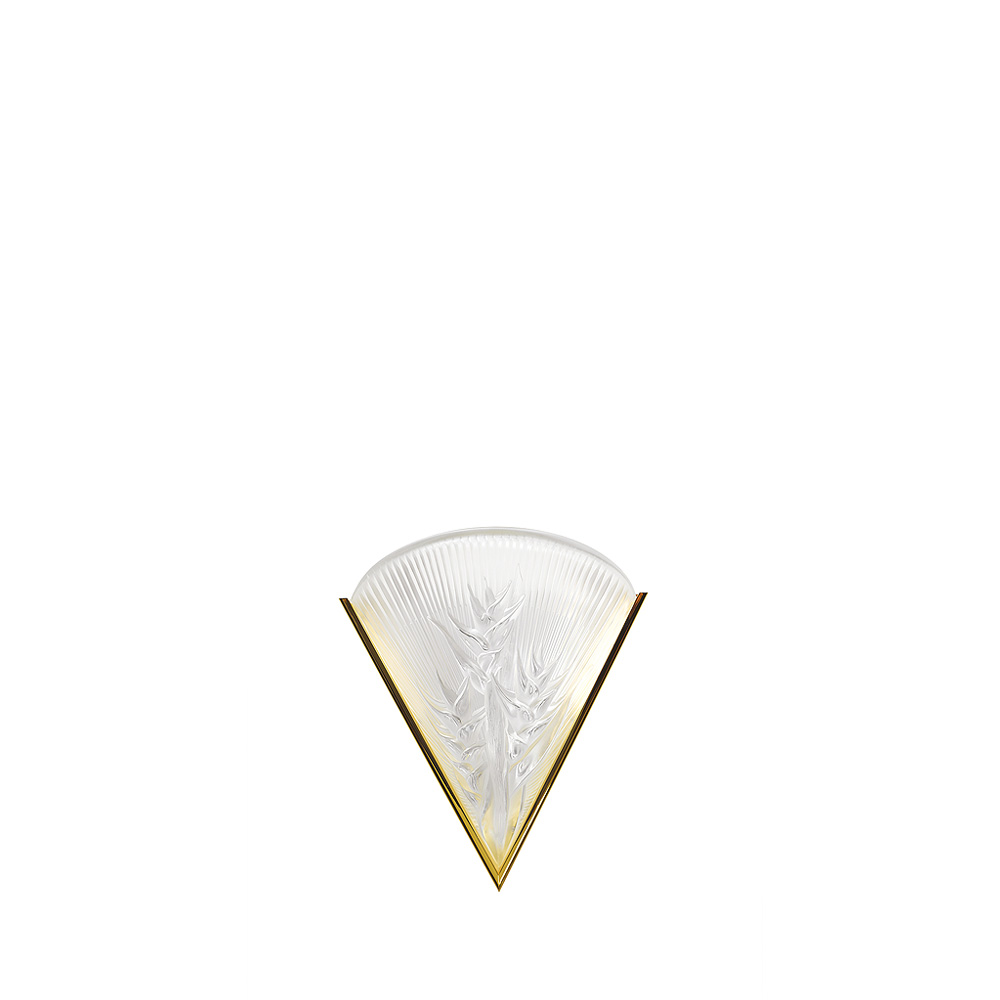 Héliconia wall sconce   Clear crystal, gilded finish   Interior Design Lalique