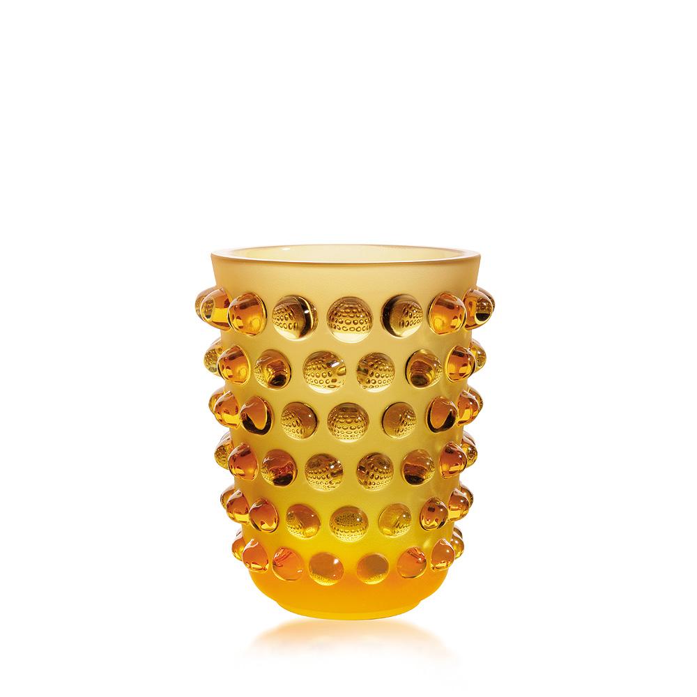 Mossi vase   Amber crystal   Vase Lalique
