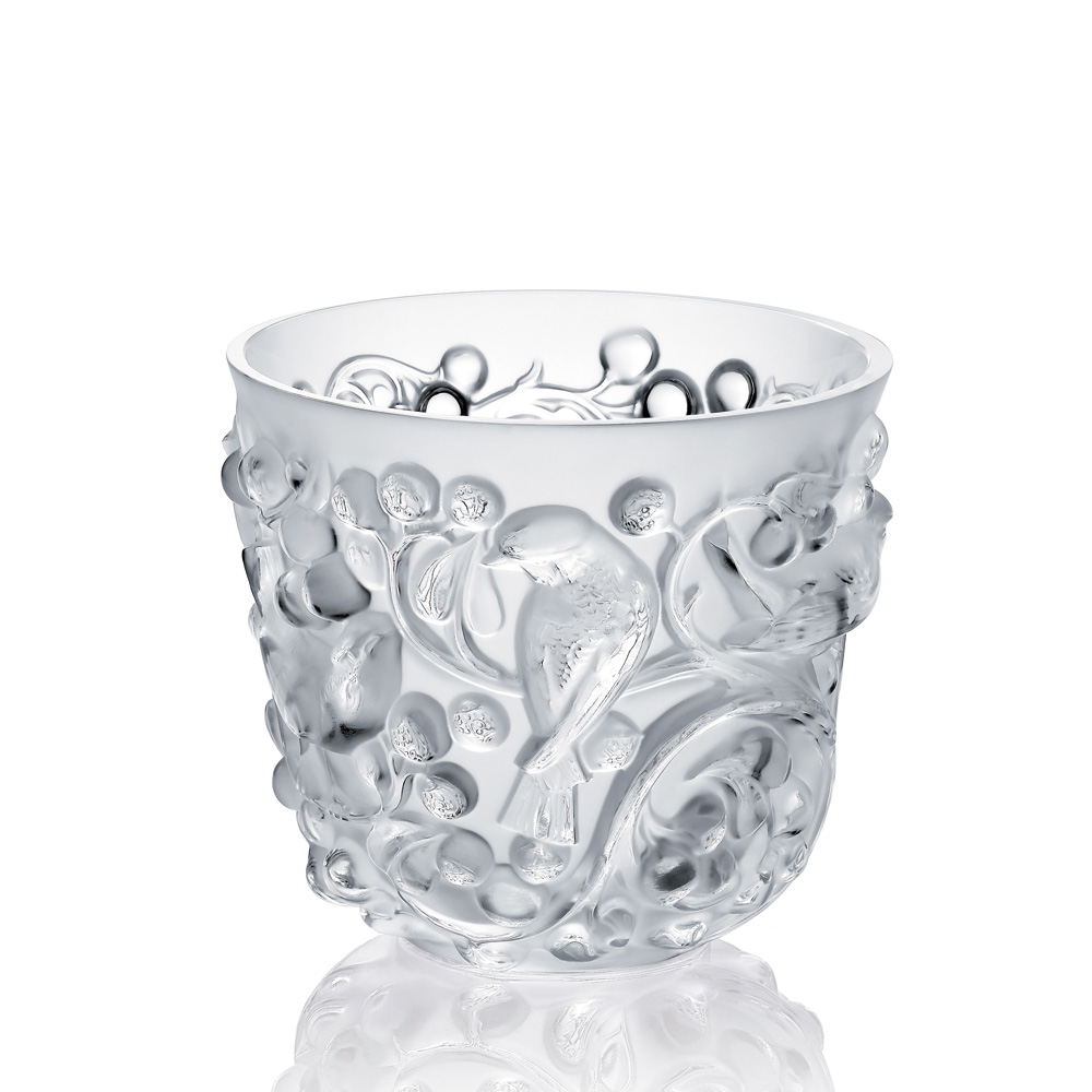 avallon vase clear crystal vase lalique - Lalique Vase