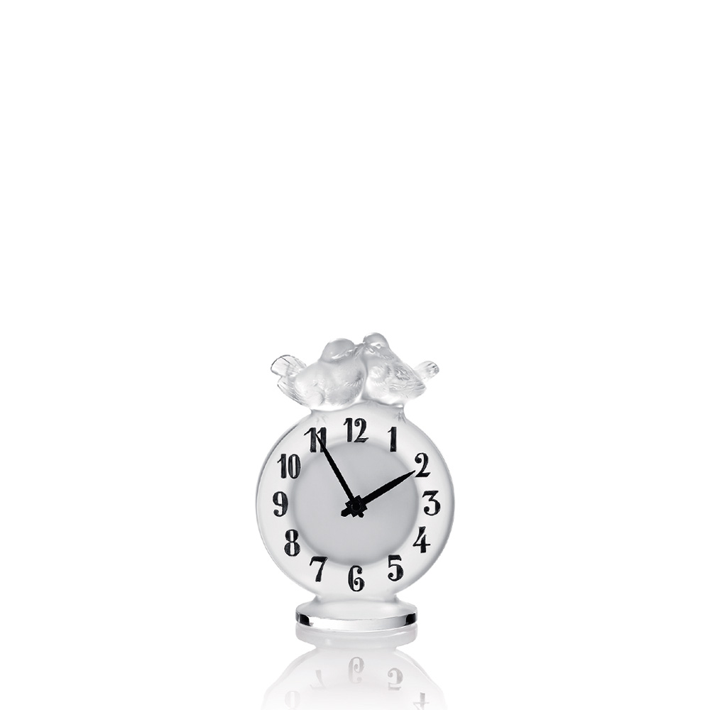 Antoinette clock | Clear crystal | Clock Lalique