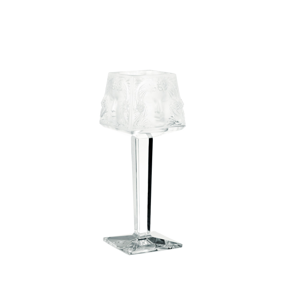 Masque de Femme on foot votive | Clear crystal | Candleholder & votive Lalique