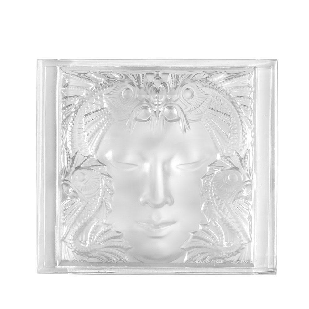 Révélation Masque de Femme decorative panel | Clear crystal | Interior Design Lalique