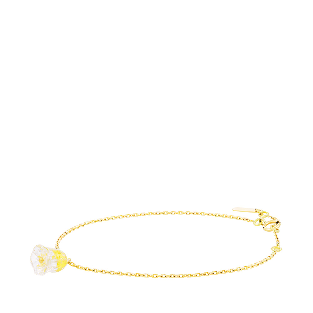 Muguet bracelet | Clear crystal, yellow gold | Fine jewellery Lalique