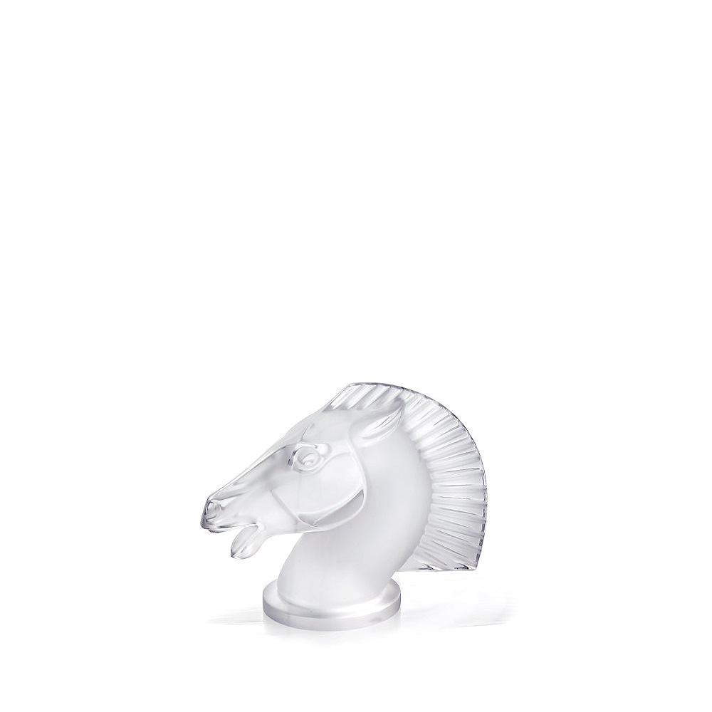 Longchamp horse sculpture | Clear crystal | Sculpture Lalique