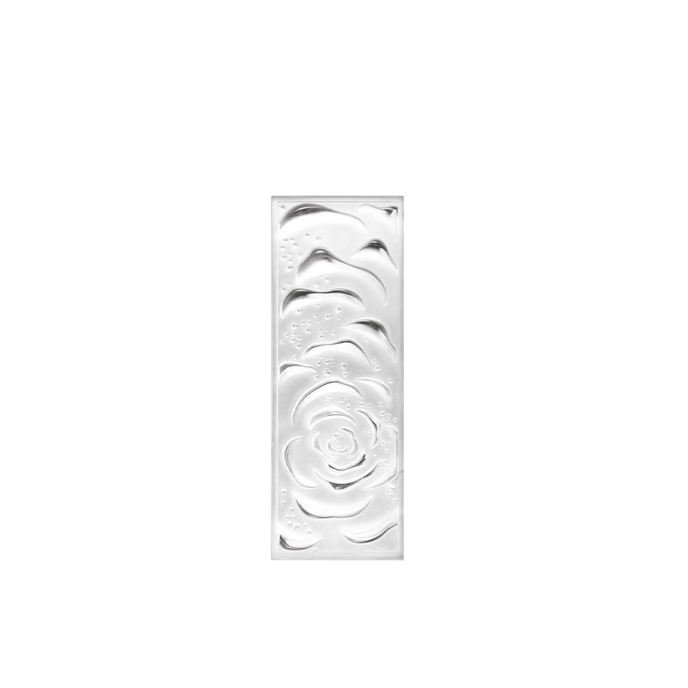 Roses decorative panel | Clear crystal, small size | Interior Design Lalique