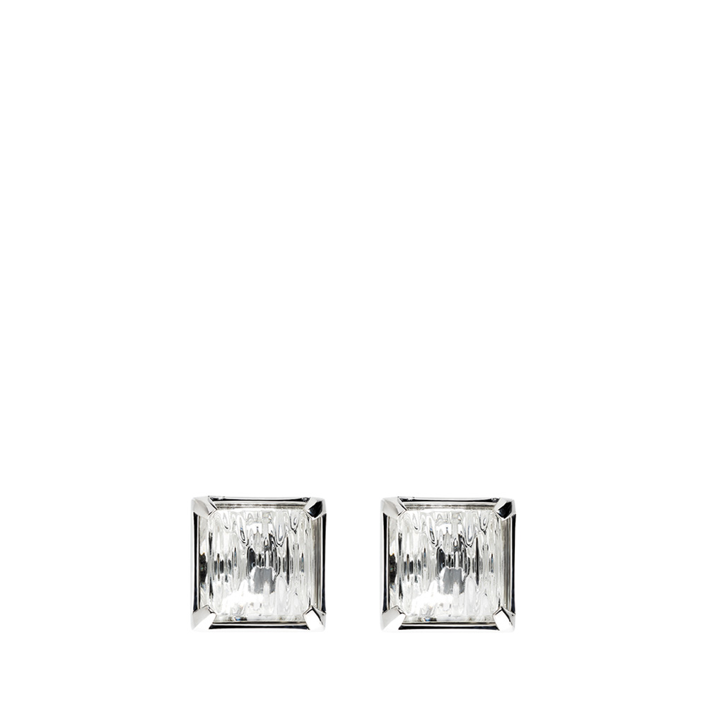 Rayonnante earrings | Clear crystal, silver | Costume jewellery Lalique