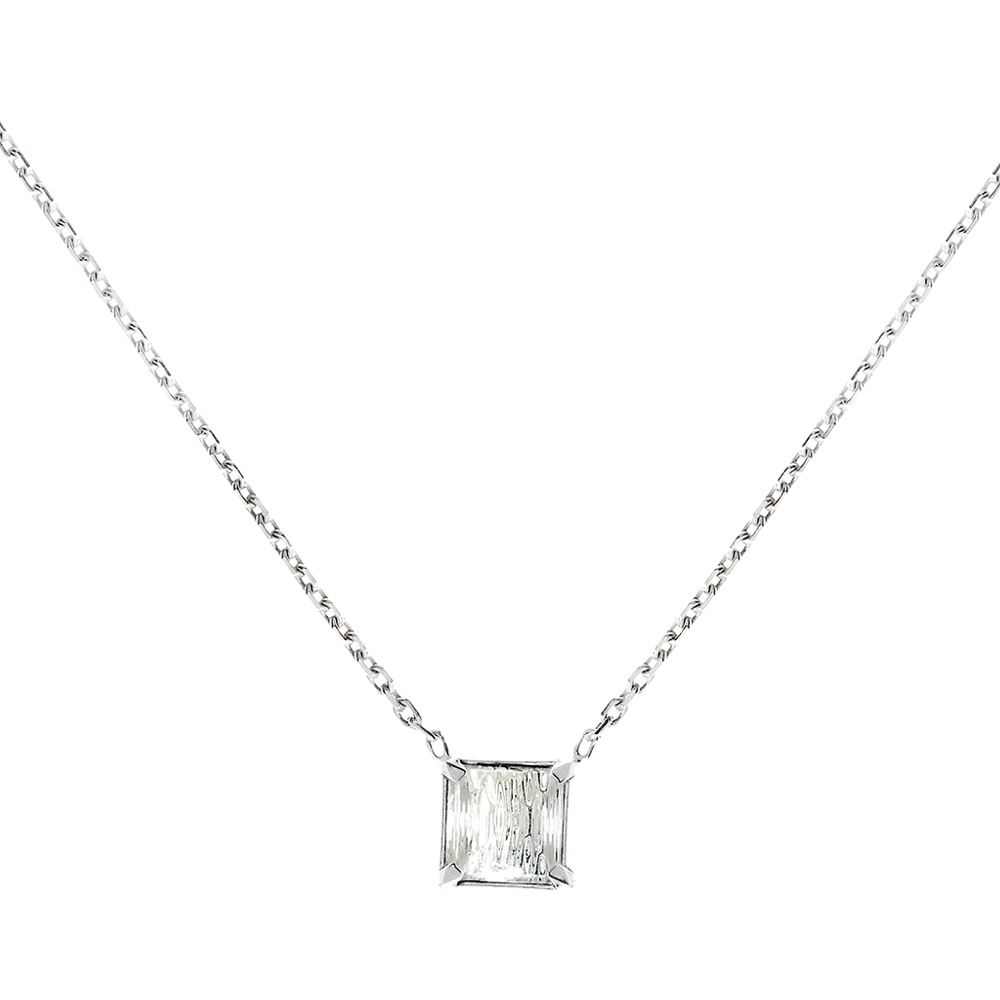 Rayonnante necklace | Clear crystal, silver | Costume jewellery Lalique