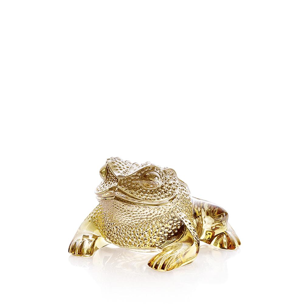 Gregoire Toad sculpture | Gold luster crystal | Sculpture Lalique