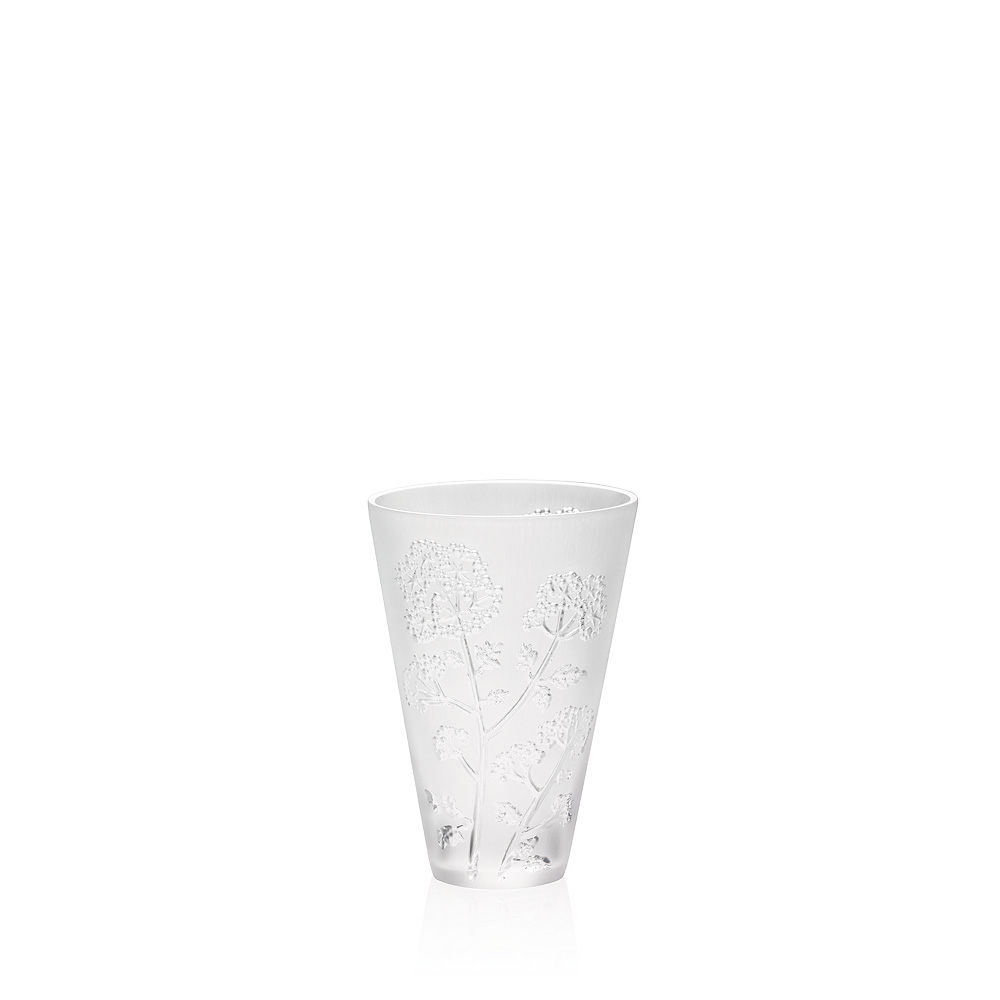 Ombelles small vase | Clear crystal, small size | Vase Lalique
