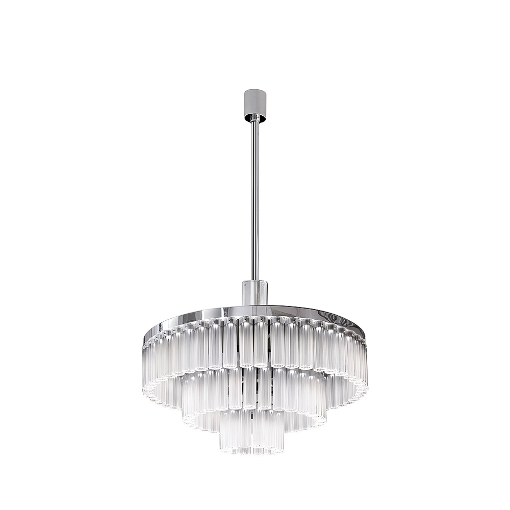Orgue chandelier clear crystal chrome finish 93 crystals orgue chandelier clear crystal chrome finish 93 crystals interior design lalique arubaitofo Image collections