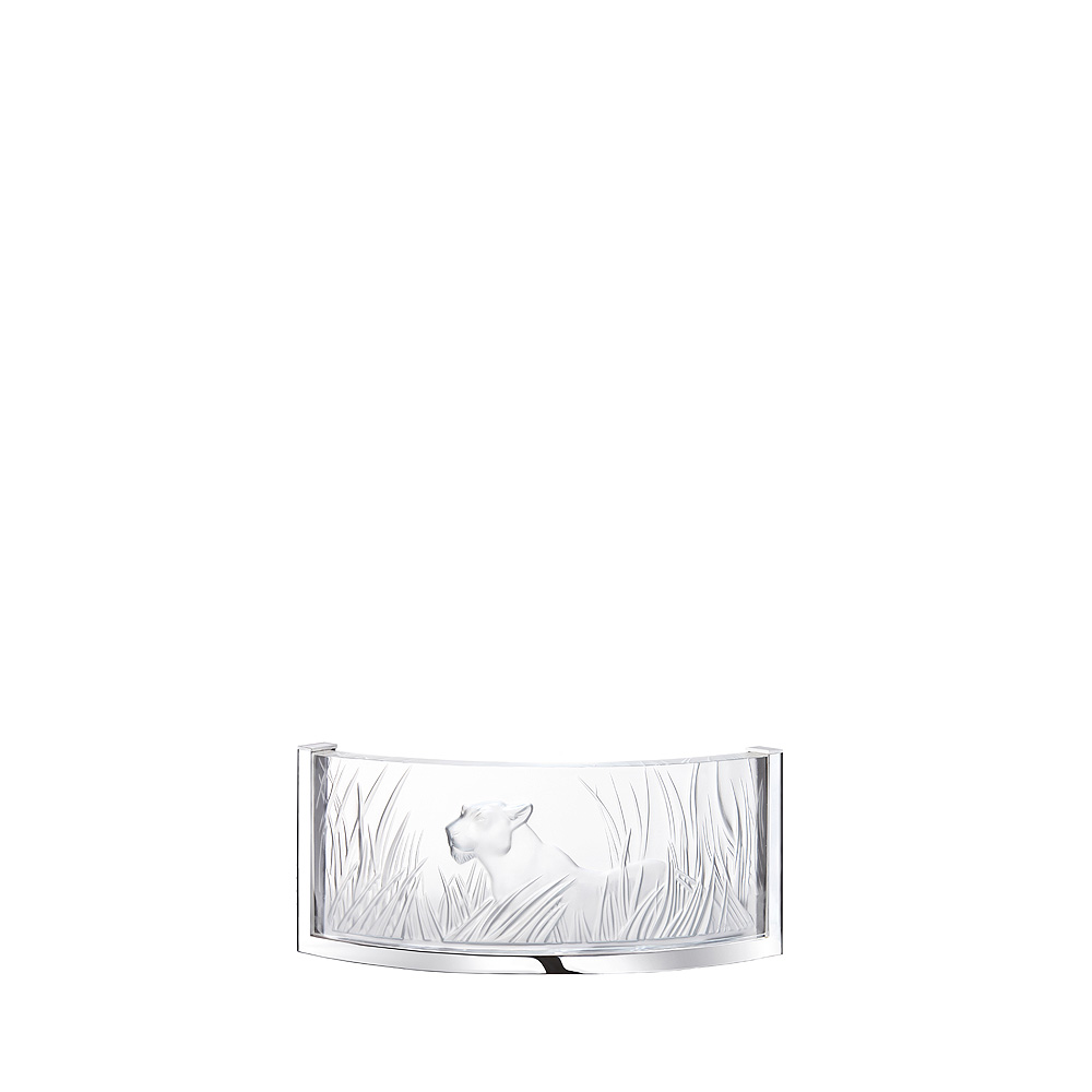 Kora Cristalight wall sconce | Clear crystal, chrome finish | Interior Design Lalique