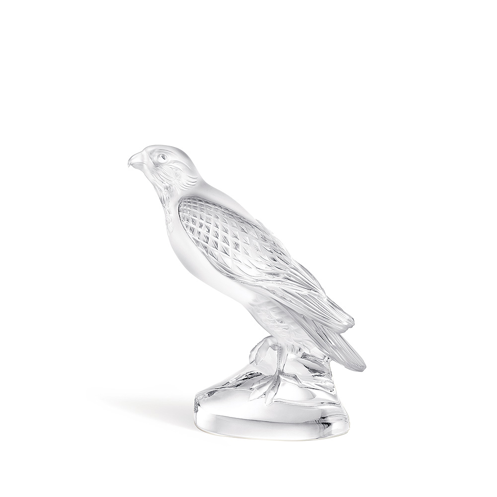 Falcon sculpture | Clear crystal | Sculpture Lalique