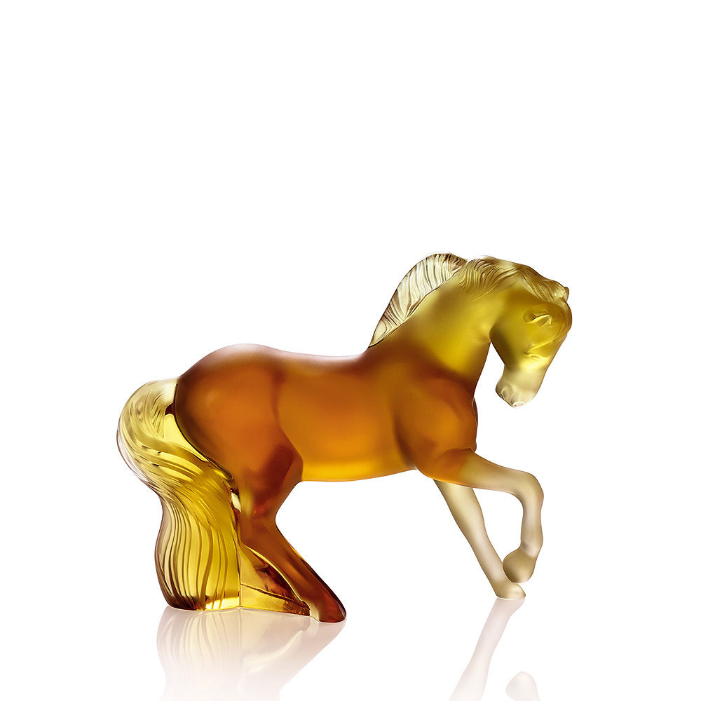Mistral Horse sculpture | Amber crystal | Sculpture Lalique
