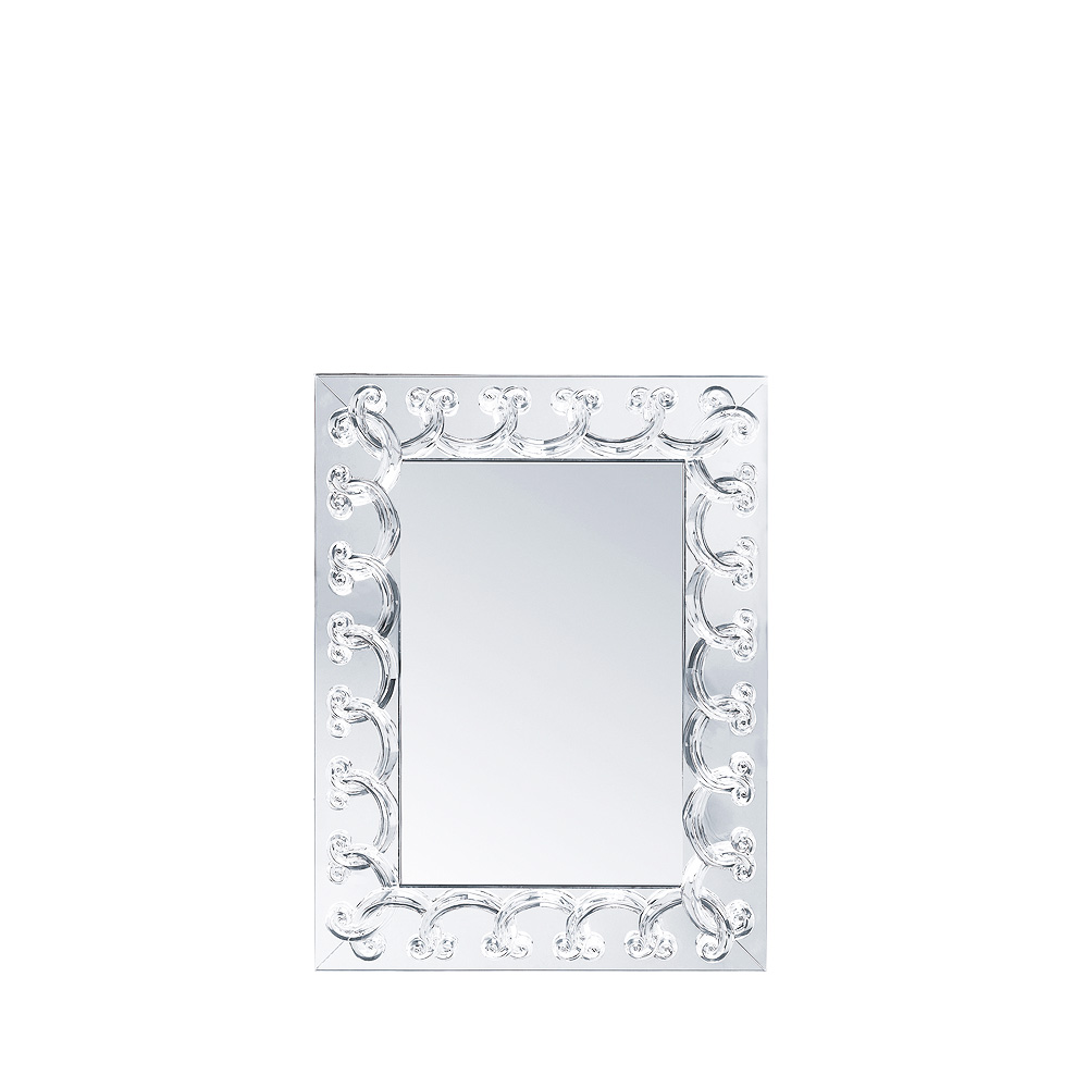 Rinceaux Mirror Clear Crystal Small Size Interior Design Lalique