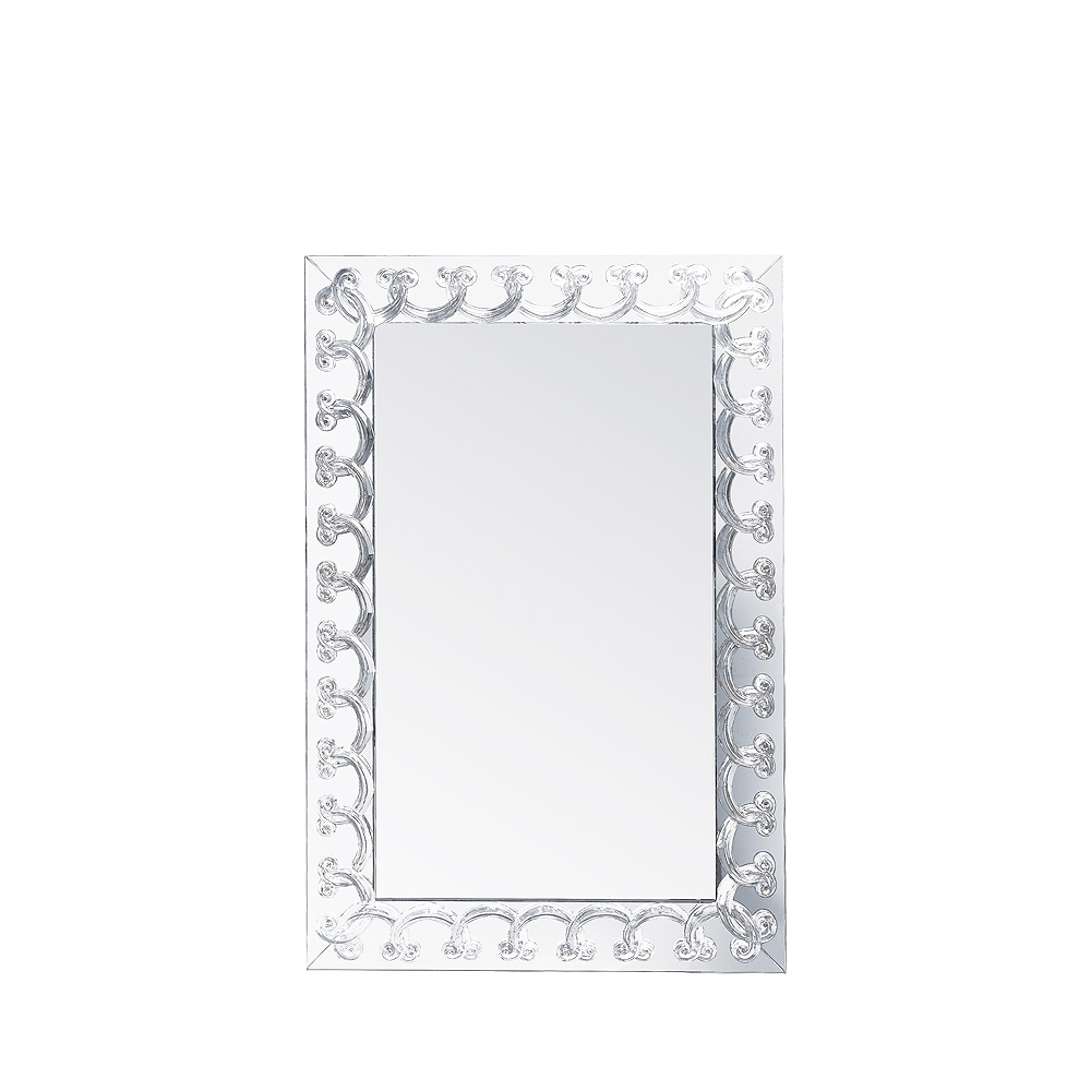 Rinceaux Mirror Clear Crystal Large Size Interior Design Lalique
