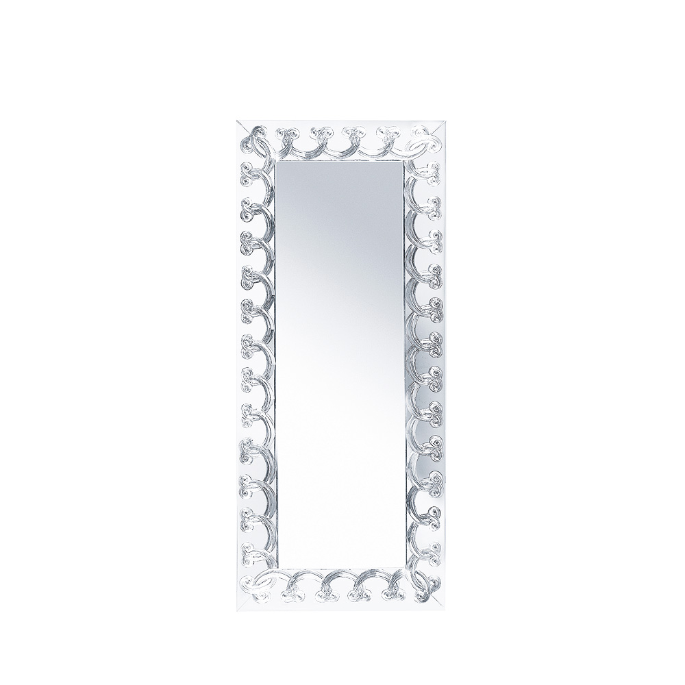 Rinceaux Mirror Clear Crystal Full Length Interior Design Lalique
