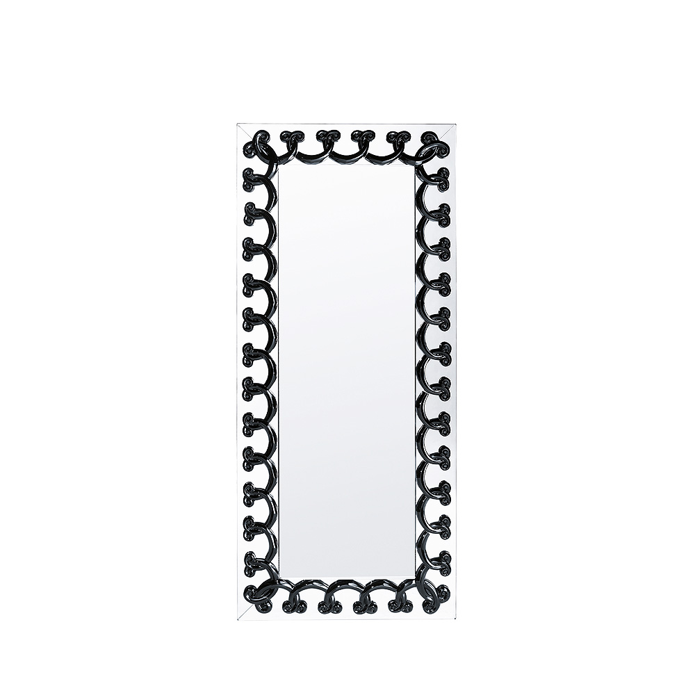 Rinceaux mirror | Black crystal, full length | Interior Design Lalique