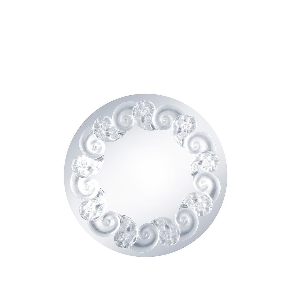 Océania mirror   Clear crystal   Interior Design Lalique