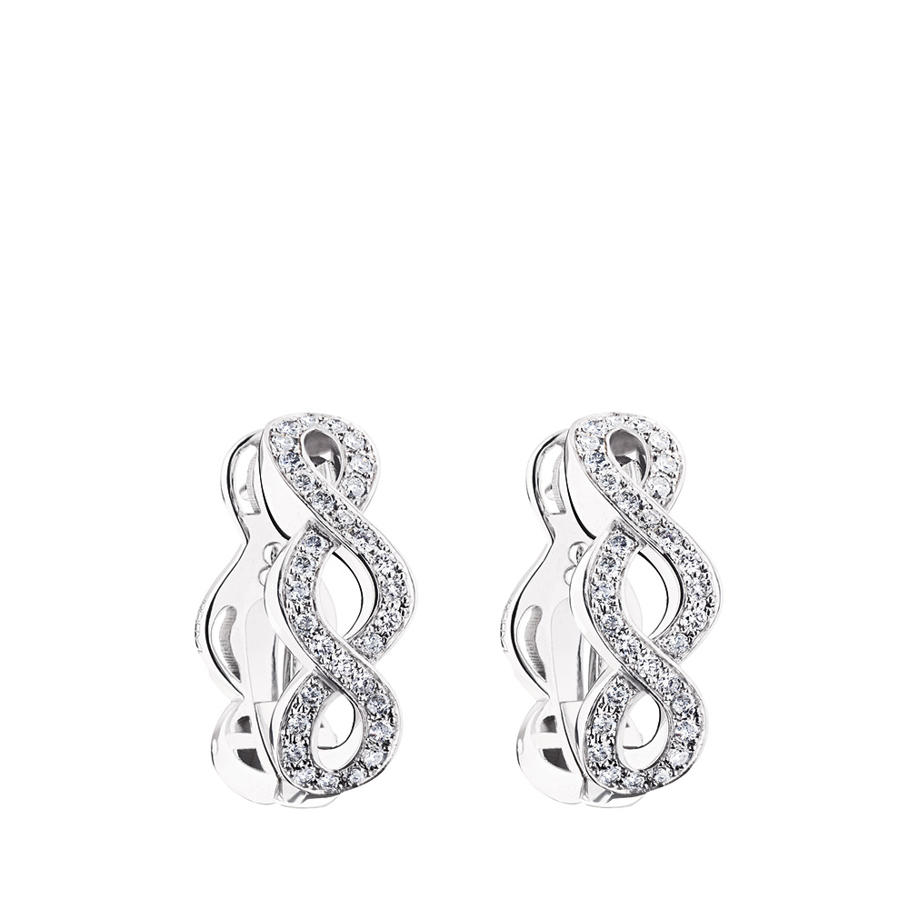 Ardente earrings | Diamonds, white gold | Fine jewellery Lalique