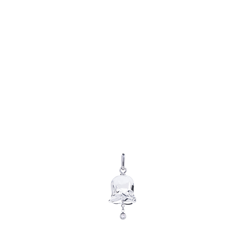 Muguet pendant | Clear crystal, Diamond, silver | Costume jewellery Lalique