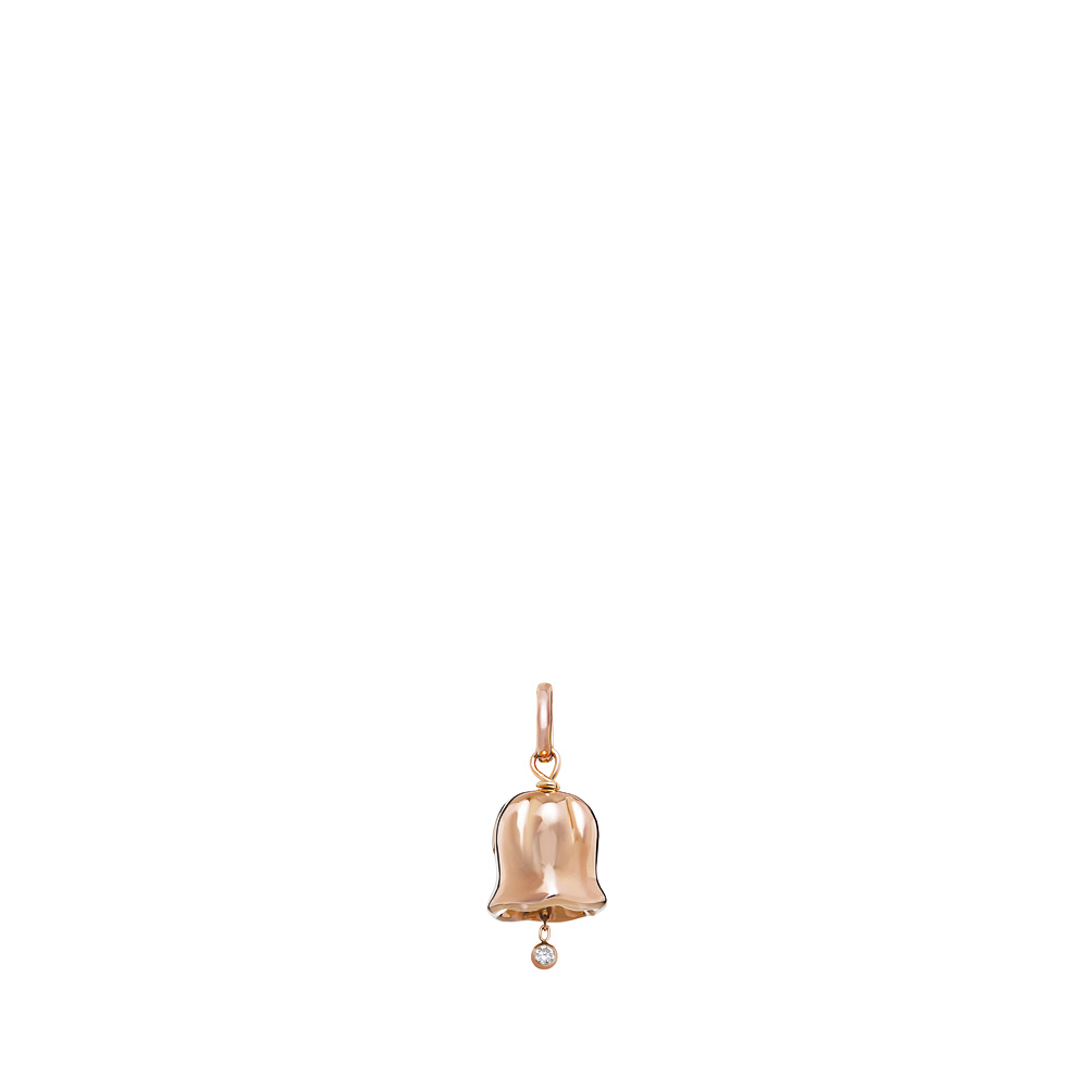 Muguet pendant | Diamonds, red gold | Fine jewellery Lalique