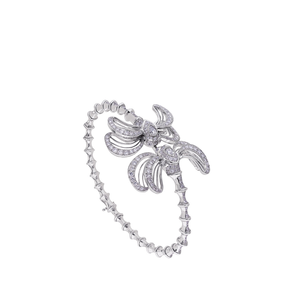 Libellule bracelet | Diamonds, white gold | Fine jewellery Lalique