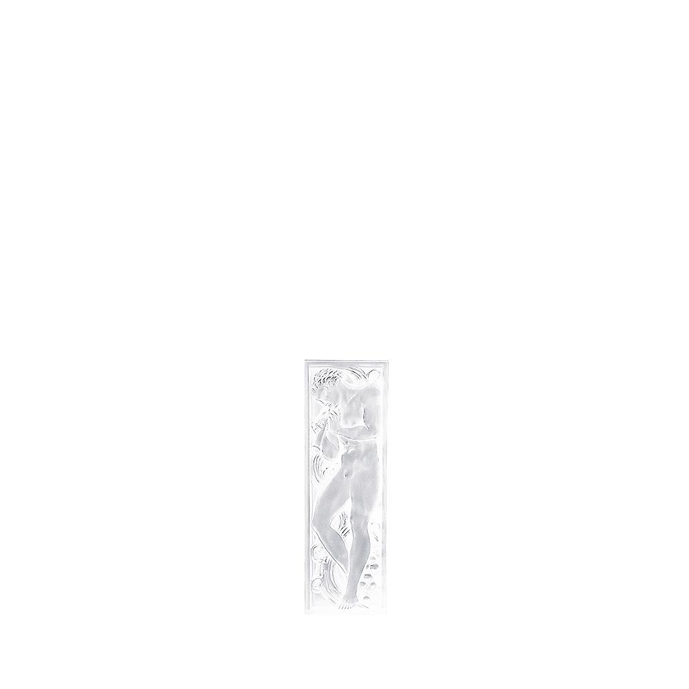 Joueur de Pipeau decorative panel   Clear crystal, left side   Interior Design Lalique