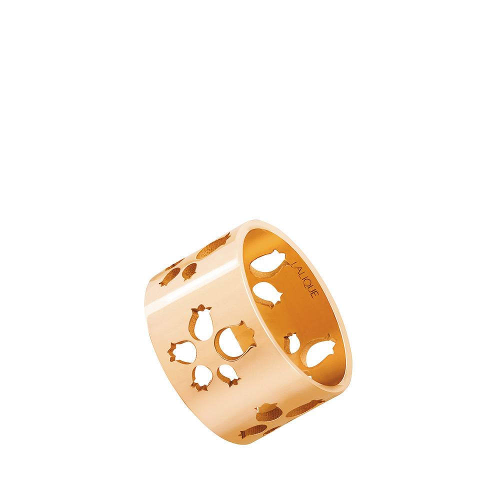 Large Muguet band ring | Red gold | Fine jewellery Lalique