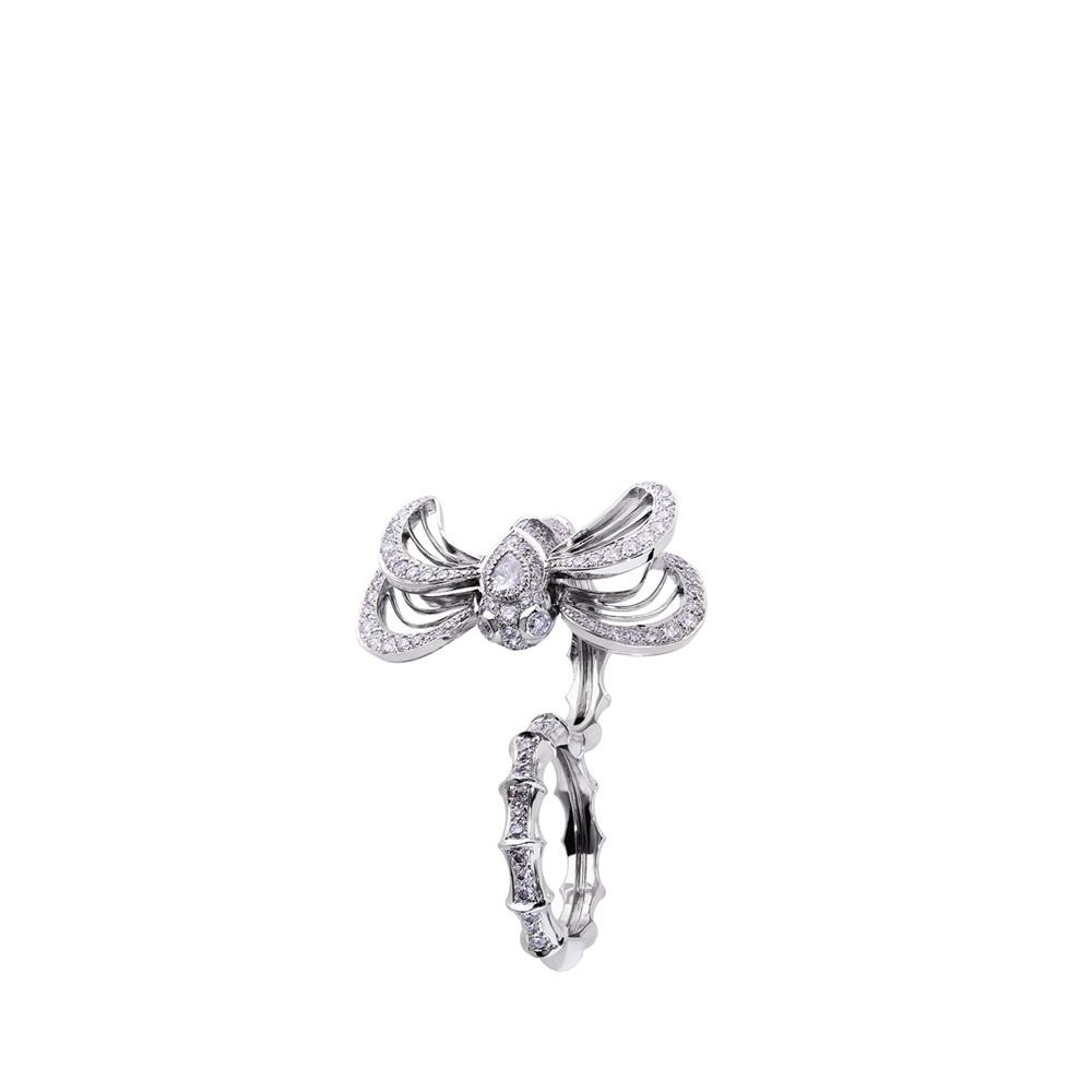 Libellule double ring   Diamonds, white gold   Fine jewellery Lalique