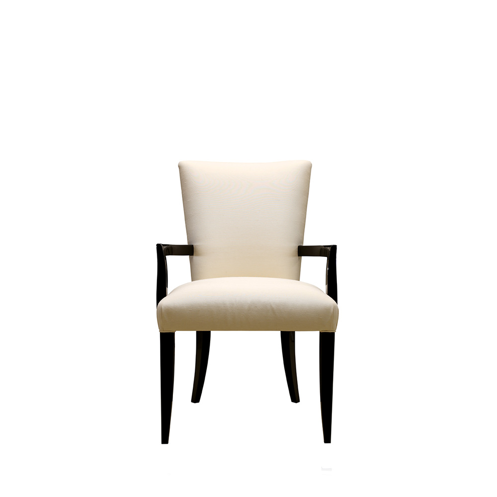 Masque De Femme Contemporary Chair | Numbered Edition, Clear Crystal, Black  Lacquered And Ivory