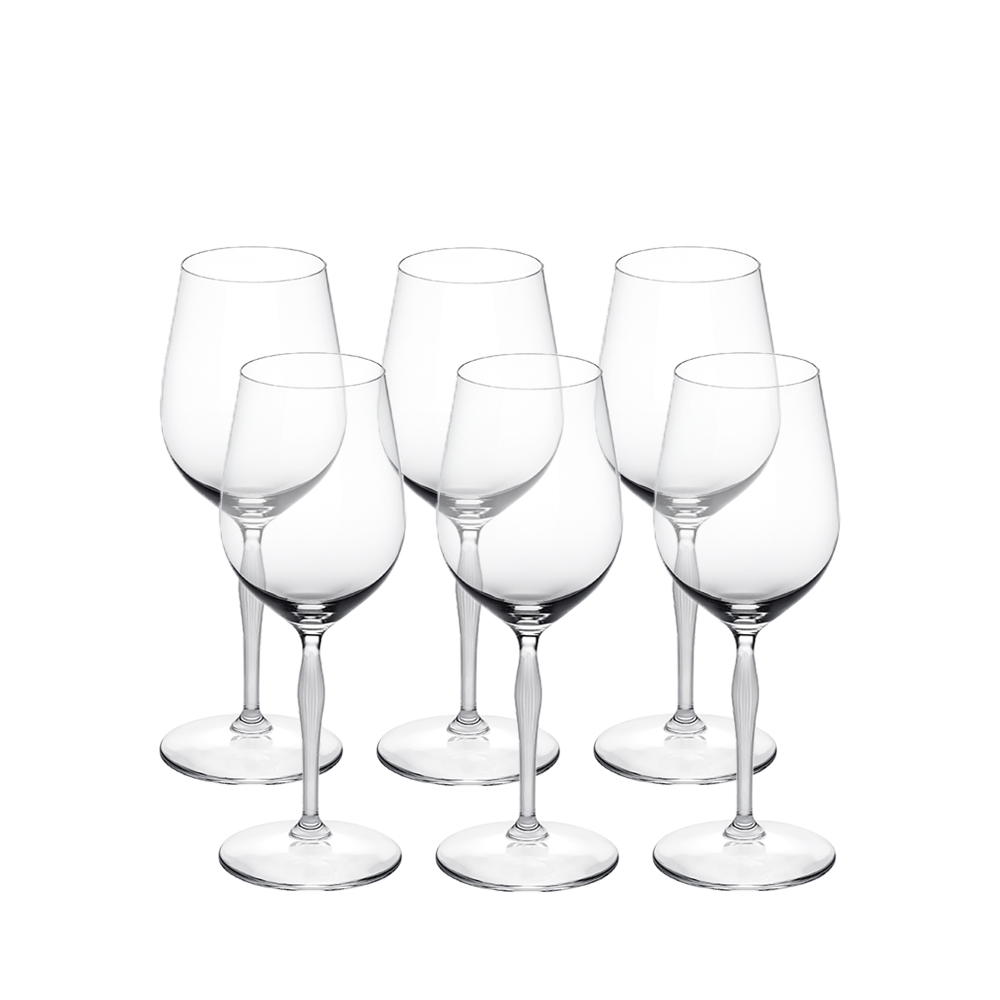 Set of 6 universal glasses 100 POINTS | 100 POINTS by James Suckling, clear crystal | Glass Lalique