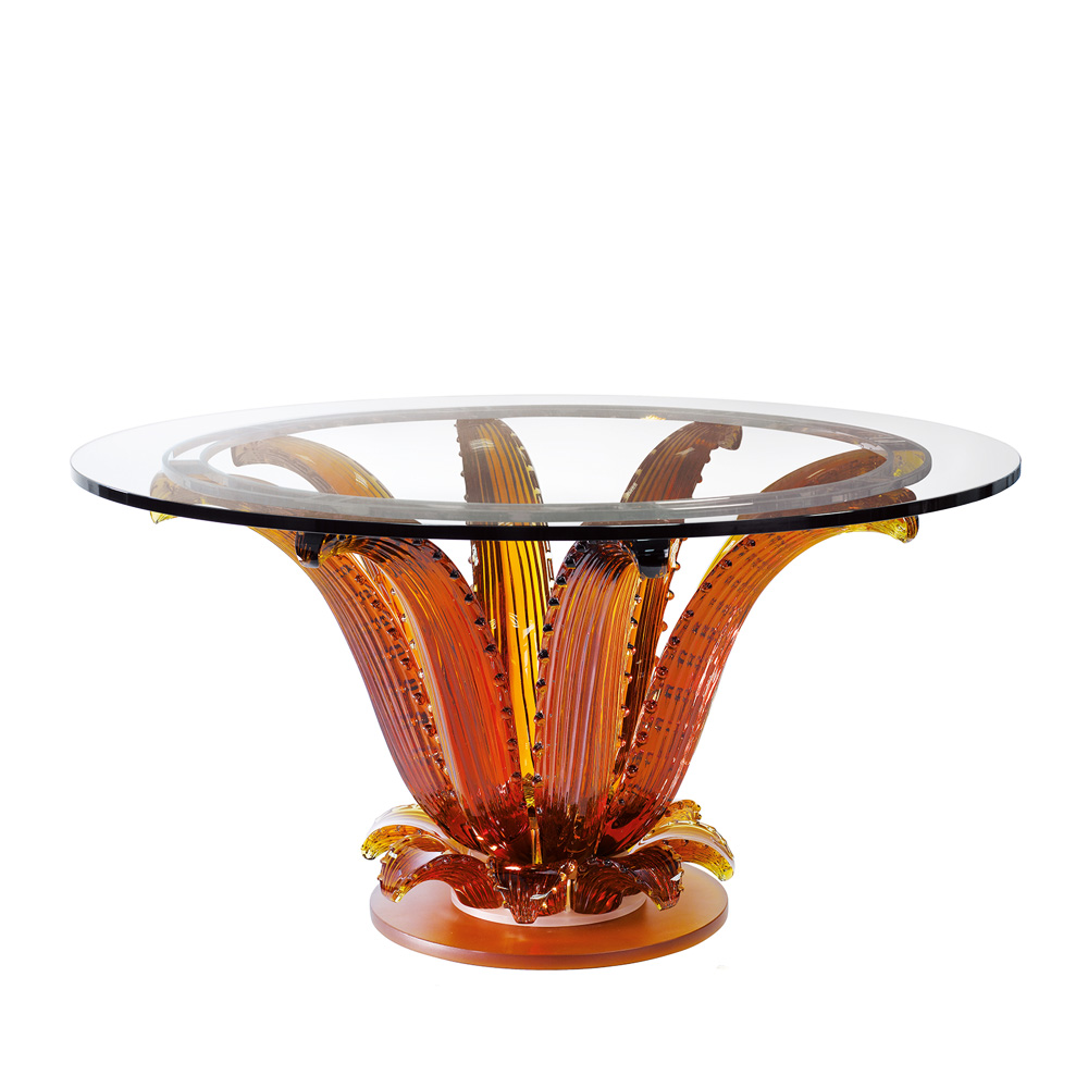 Cactus table | Round table, amber crystal | Interior Design Lalique