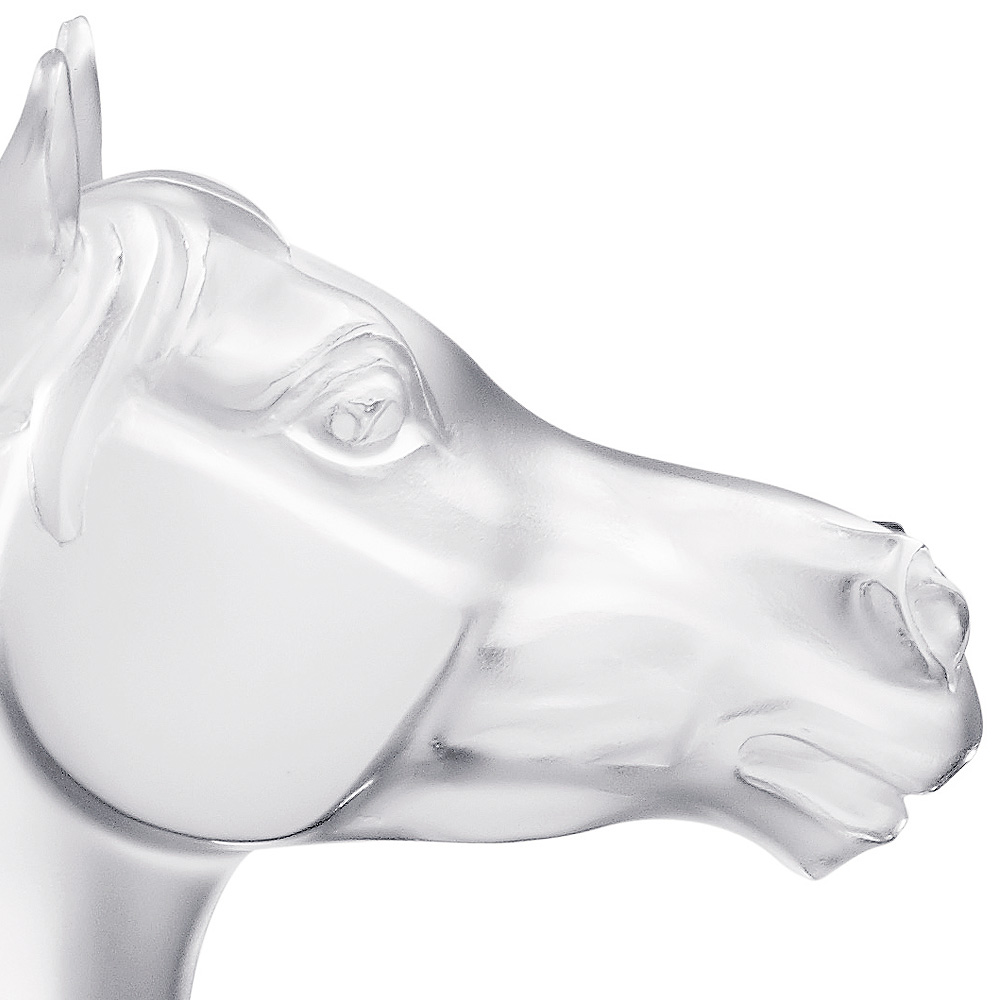 Bucéphale Horse sculpture | Limited edition (288 pieces), clear crystal | Sculpture Lalique