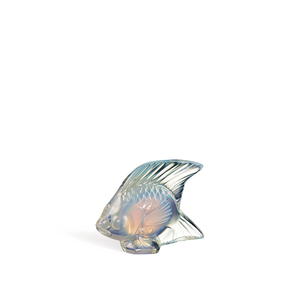 Fish sculpture | Opalescent luster crystal | Sculpture Lalique