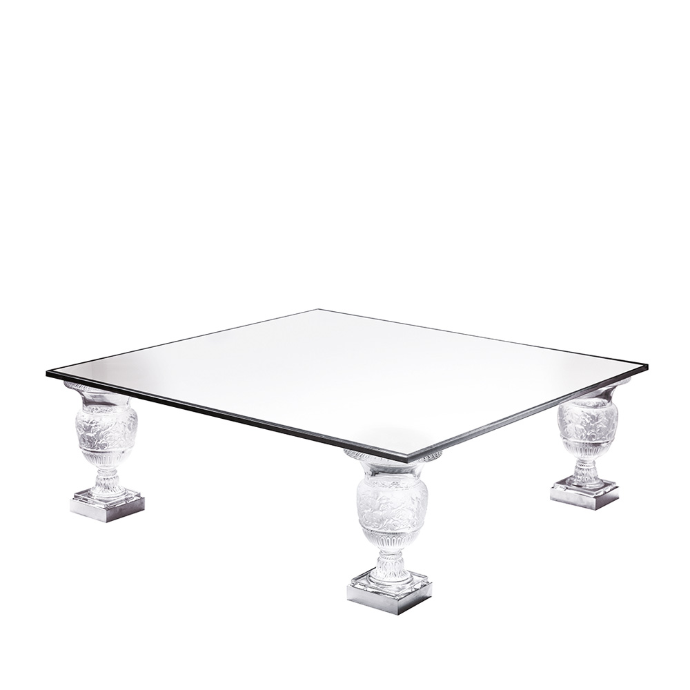 Versailles Square Coffee Table: Clear Crystal, 1 Table Foot