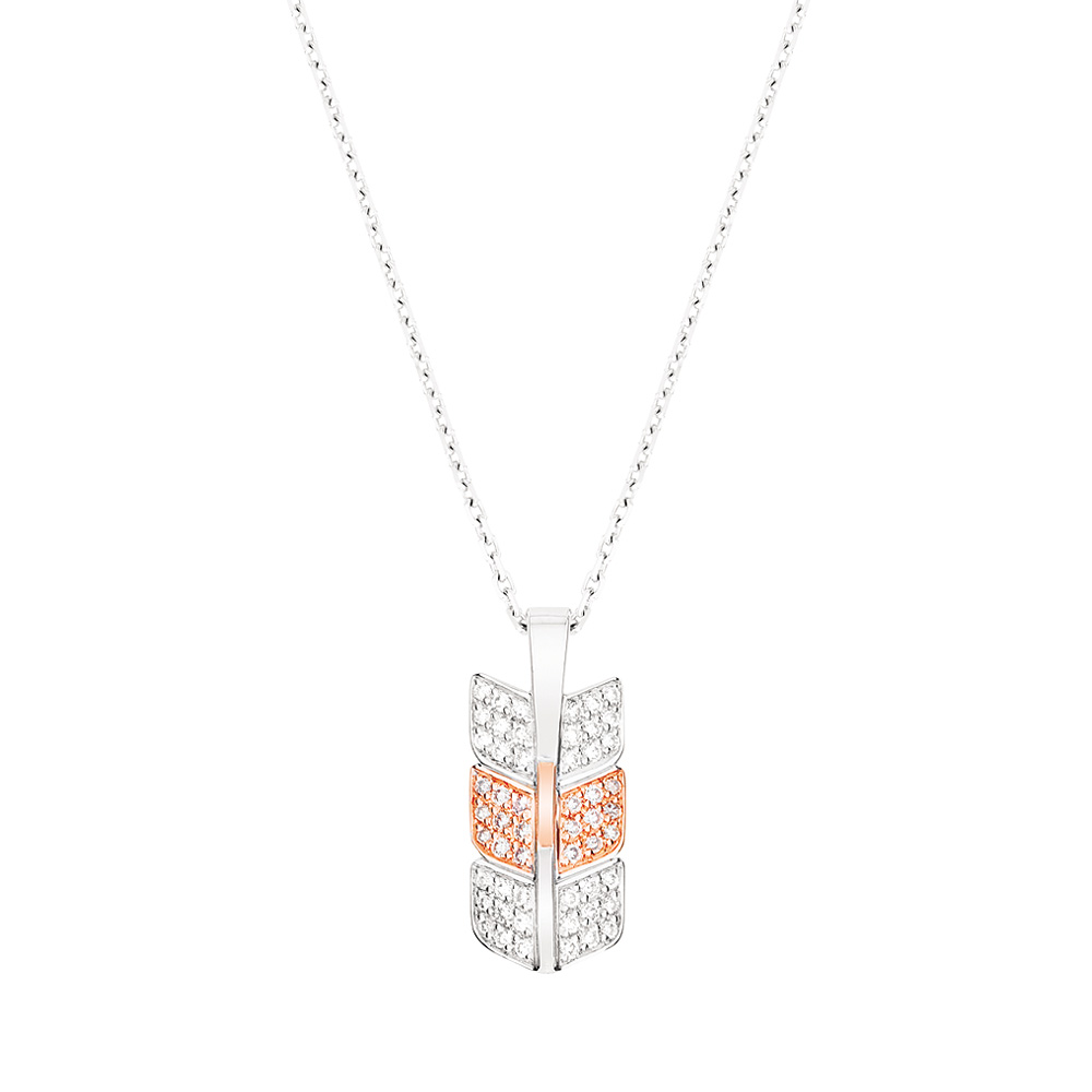 Éros pendant | Diamonds, white and red gold | Fine jewellery Lalique