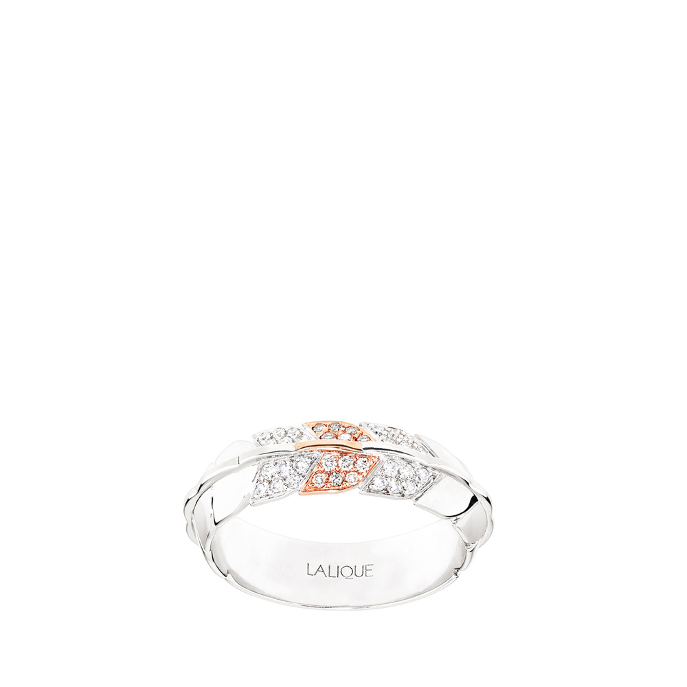 Éros ring | Diamonds, white and red gold | Fine jewellery Lalique