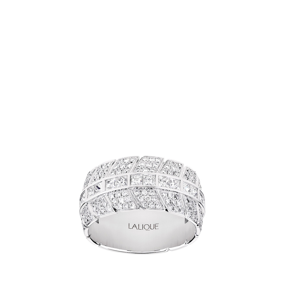 Éros ring | Diamonds, white gold | Fine jewellery Lalique