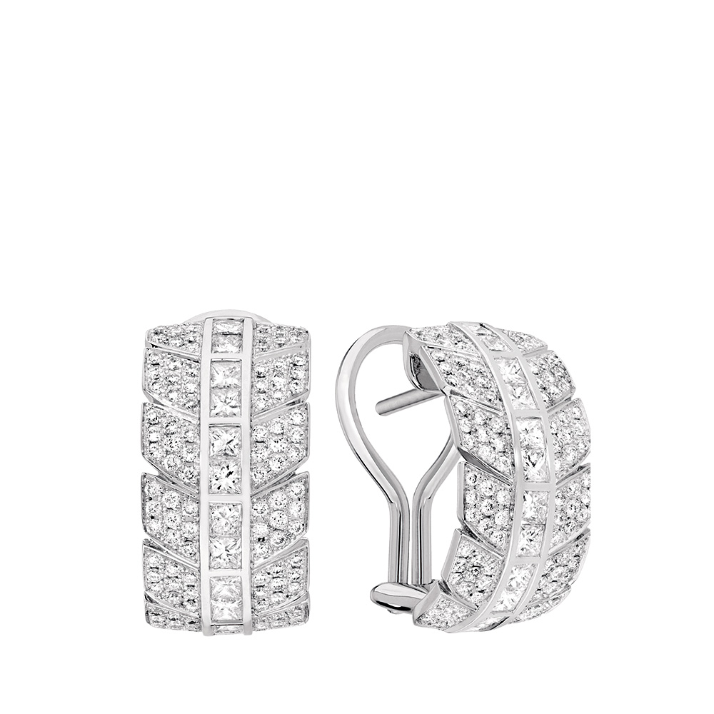 Éros earrings | Diamonds, white gold | Fine jewellery Lalique
