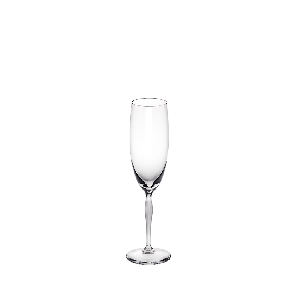 100 POINTS Champagne glass | 100 POINTS by James Suckling, clear crystal | Glass Lalique