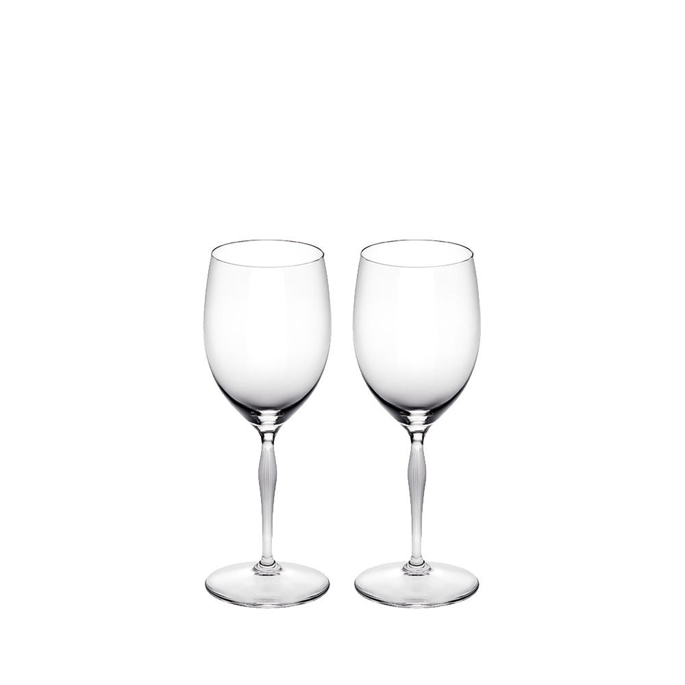 Set of 2 water glasses 100 POINTS | 100 POINTS by James Suckling, clear crystal | Glass Lalique