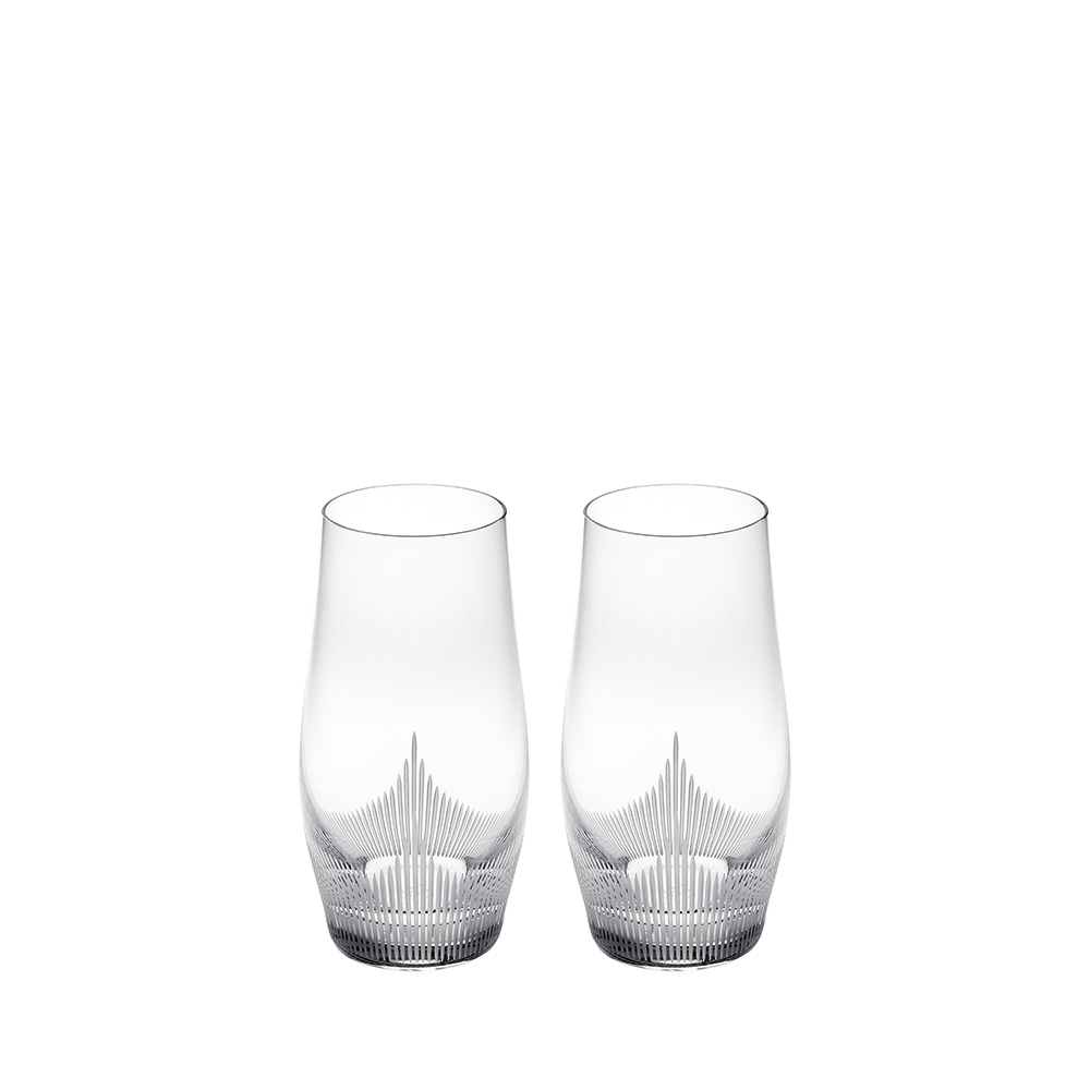 Set of 2 highball glasses 100 POINTS | 100 POINTS by James Suckling, clear crystal | Glass Lalique